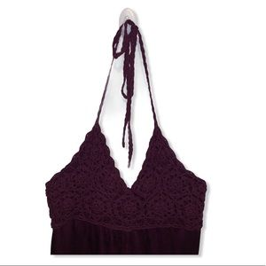 Beautiful crocheted bust top